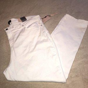 NYDJ White Sherri Slim Jeans Ladies Size 22W NWT
